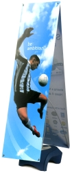 Double Wind Wise Outdoor Banner Stand