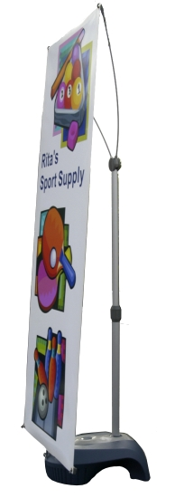 Wind Wise Outdoor Banner Stand