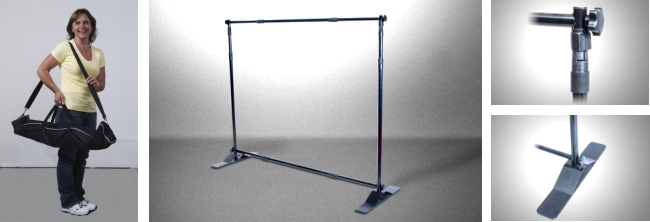 Adjustomatic Banner Stand