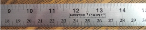 "24""  Flat Ruler Stainless Steel - CenterPoint Tapes"
