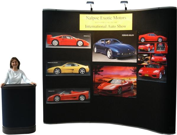 Trade Show Booth Loop : Folding trade show display pedestal locking multi shelf cabinet