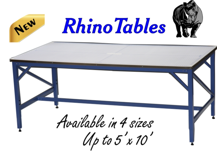 New Rhino Tables. Includes Self Healing Rhino Cutting Mat